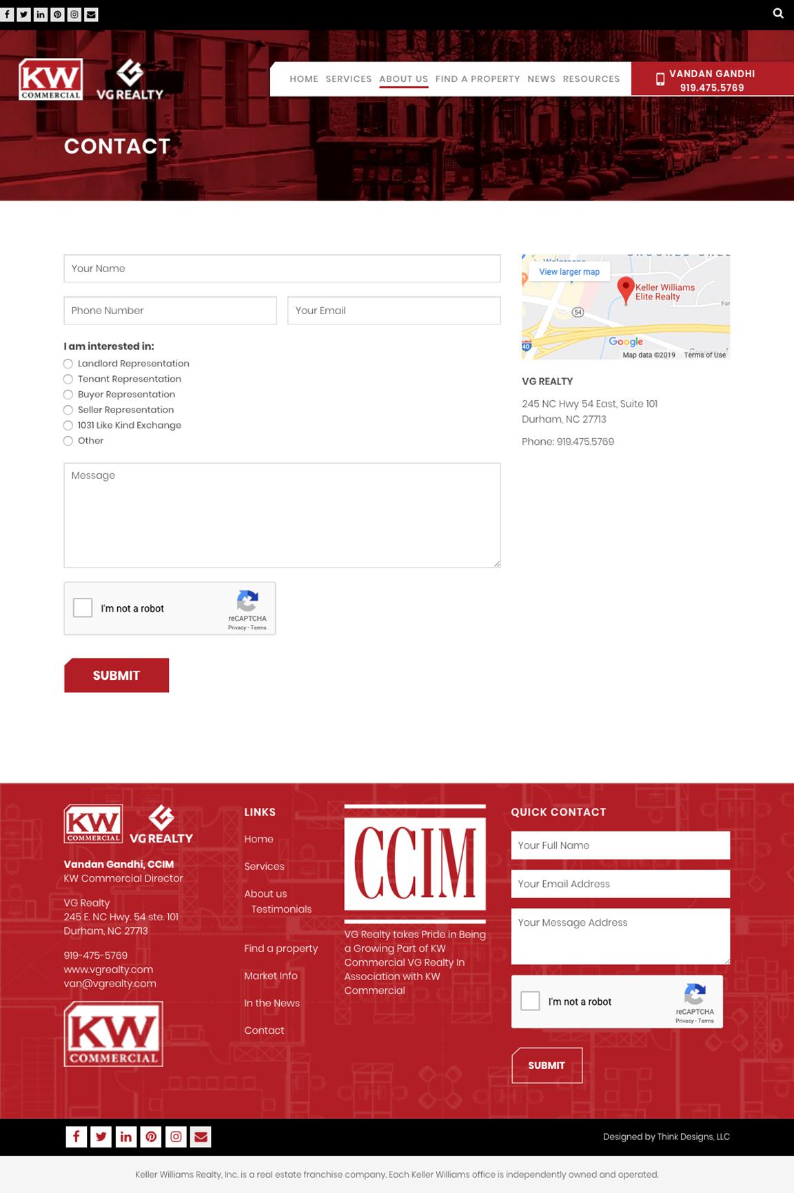 Vg Realty Web Design Think Designs
